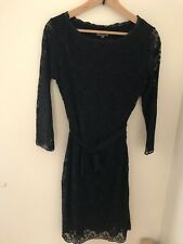 Jigsaw Black Lace Dress S Worn Once