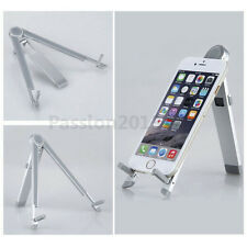 Aluminum Portable Foldable Stand Holder Mount For iPad 2 3 4 iPhone Tablet PC