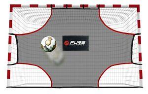 Pure2Improve - 3m x 2m Goal Shot Football Corner Practice Net