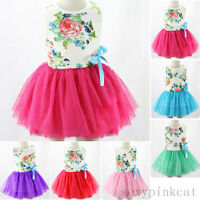 New Toddler Infant Kids Baby Girls Summer Dress Princess Party Tutu Dresses 1-7Y