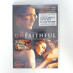 Unfaithful Movie DVD Region 4 PAL Free Postage - Thriller Drama