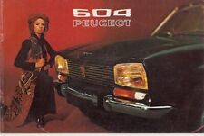 1971 PEUGEOT 504 French 16p Brochure in English