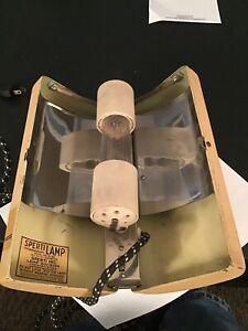 Vintage SPERTI Irradiation Lamp Model No. P-42  500 Watt 110V. Needs Bulb As Is