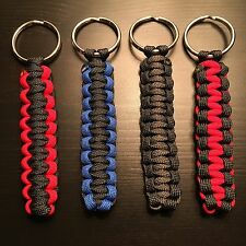 ONE (1) Paracord Keychain KEY FOB 550 Cord USA Custom Colors! TJPARACORD