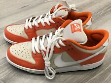 new concept 9c2a3 5df85 Lightly Worn Nike SB Dunk Low Pro Orange White Egg Shell Shoes Men s Size  11.5