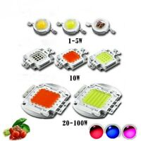 LED Plant Grow light chip Full spectrum Royal Blue 450NM Deep Red 660NM 1W-150W