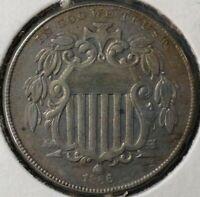 1866 US SHIELD NICKEL