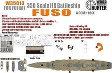 Hunter 1/350 w35013 bois pont IJN fuso pour fujimi