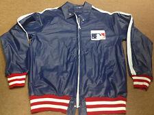 Nolan Ryan MLB Baseball Rain Jacket Windbreaker Coat M Red Blue Thrift Hunters