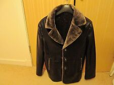 Mens fur lined jacket size 40 chest.