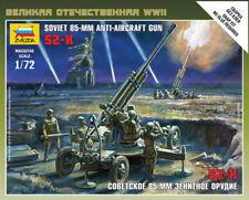 Zvezda Russe 85MM AA Pistolet & équipage Modèle Plastique Kit 1/72 Echelle 6148