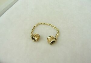 Pandora Weißdorn Komfortkette 14k Gelbgold 585 Gold 750312 Floral Safety Chain