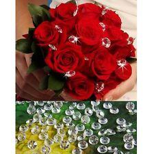500PCS Mini Clear 10mm Acrylic Diamond Confetti Wedding Decor Table Scatters