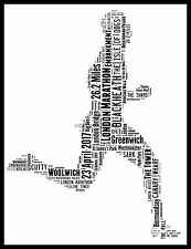 PERSONALISED LONDON MARATHON 2017 ART Picture GIFT PRESENT RUNNER RACE MALE