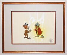 Walt Disney Mickey's Christmas Carol Production Cel of Scrooge McDuck Water Rat