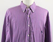 NEW Ralph Lauren Classic Striped Button Down Shirt MENS 18.5 - 38/39 Tall Purple