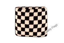 WRISTBAND Checkered black-white Flag SWEATBAND 7x8cm