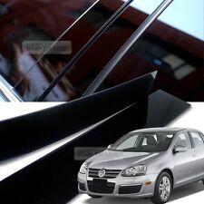 Glossy Black B C Pillar Post UV Coating Cover Trim 6Pcs For VW 2005-2010 Jetta