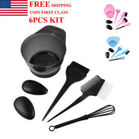 Salon Hair Coloring Dyeing Kit Color Dye Brush Comb Mixing Bowl Tint Tool Bleach