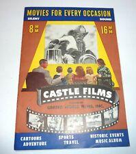 Vintage Castle Films 10th Original Product Book & Price List 8mm 16mm Movies