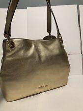 MICHAEL Kors Raven Large Shoulder Tote Bag Handbag Hobo Pale Gold New NWT