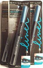 LOT 435BTB - 3 Maybelline #435 Blast Of Blue Master Drama Eye Studio Pencil