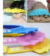 Baby Badekappe Badehut Hut Schutz Schirm Duschen Baden Haare Rosa Blau Gelb