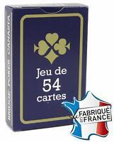 Jeux de 54 Cartes France - Jeux de Carte poker - rami bridge Gauloise bleu