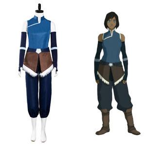 Avatar:The Legend of Korra Cosplay Costume Korra Top Pants Outfits Halloween