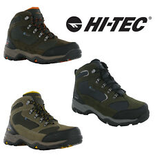 Hi-Tec Storm Walking Boots Hiking Waterproof Leather Mesh Lace Up Trail Mens