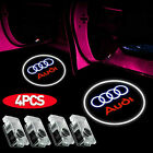 4 Pack LED Logo Door Courtesy Light Shadow Laser Projector for Audi A8-A6 A4 Q7