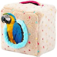 Pet bird parrot parakeet budgie warm hammock cage hut tent bed hanging cave UK
