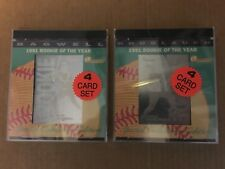1992 Holoprism JEFF BAGWELL & CHUCK KNOBLAUCH 1991 Rookie of the Year SEALED SET