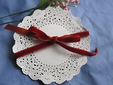"""100 PCS 4"""" 4.5"""" INCH OFF WHITE ivory ROUND PAPER LACE DOILY CARD CRAFT STAMPING"""