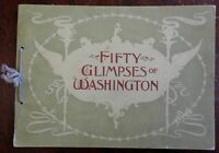 Fifty Glimpses of Washington D.C. 1896 illustrated souvenir album 50 B&W views