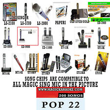 MAGIC SING MIC POP SONG CHIP POP 22 200 SONGS ALSO WORKS WITH 2019 ET23KPRO