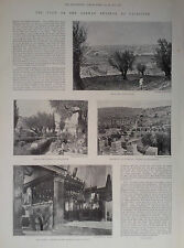 1898 PRINT THE VISIT OF THE GERMAN EMPEROR TO PALESTINE