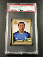 KYLIAN MBAPPE 2018 PANINI WORLD CUP STICKERS #209 GOLD ROOKIE RC NEAR MINT PSA 7