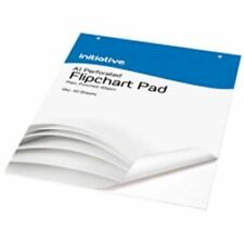 Initiative Punched Perforated Flipchart Pad A1 60gsm White Bleedproof Paper, 40 Sheets - FP4806