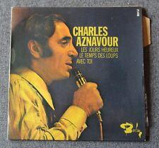 Charles Aznavour, les jours heureux + 2,  EP - 45 tours