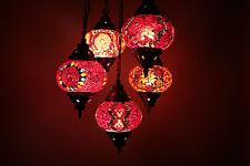 Turkish Moroccan Style Mosaic Hanging Lamp Ceiling Light 5 Medium Globe
