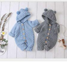 Baby Jumpsuits Jacket Pull Tricoté Barboteuse D'oreille à Capuche Pour Enfant