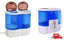 Mini Compact Washing Machine Twin Tub Washer Spin Dryer 6.8kg Small Space Eco
