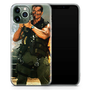 Gel Phone Case for iPhone 7 8 XR 11 12 Pro Max Arnold Commando Rocket Launcher
