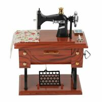 Sewing Machine Music Box Vintage Sew Case Cabinet Home Decoration Accessories