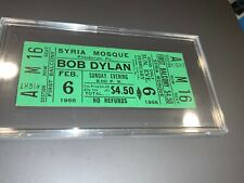 Bob Dylan 1966 Original Unused Concert Gig Ticket Syria Mosque Pa The Band Green