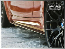 DP Style Carbon Front Side Skirts Add-On Lip For BMW E82 E88 1-Series 1M Only CF