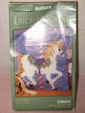 "Caron Latch Hook Kit - Carousel Horse - 12""x12"" - Complete Kit"
