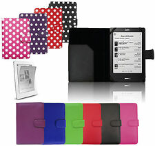 Stylish Leather Wallet Case Flip Cover Skin for Various E-reader Tablets Devices Amazon Red Polka Dot Built in Light Kindle Touch 2016 8th Gen