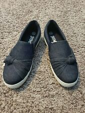 New Girls Slip-On Denim Shoes Flats Loafers Size 13.5